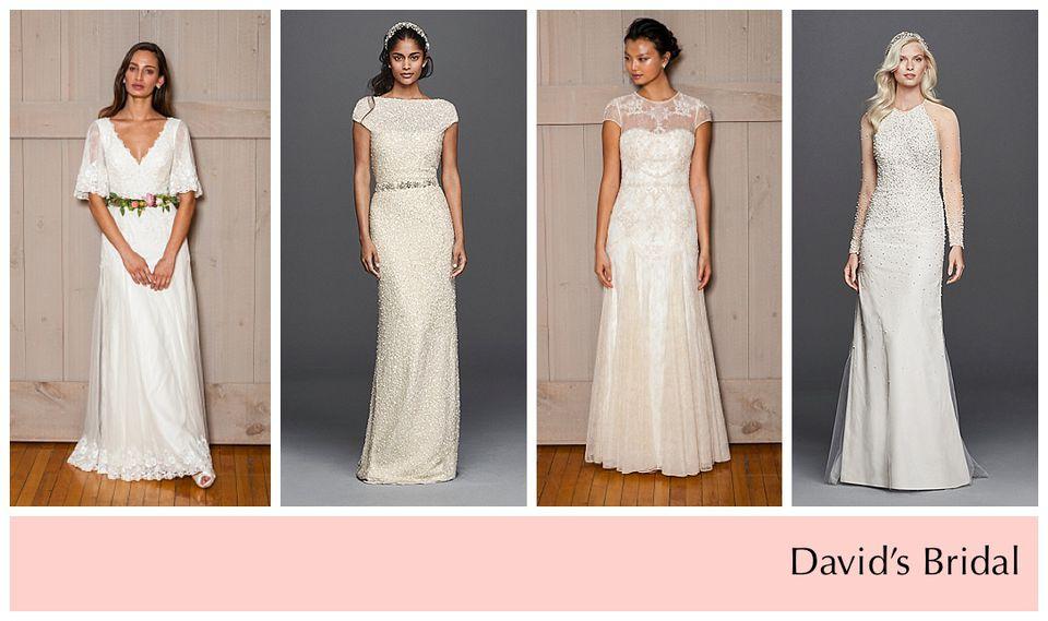 Affordable wedding dress designers under 2000 davids bridal junglespirit Image collections