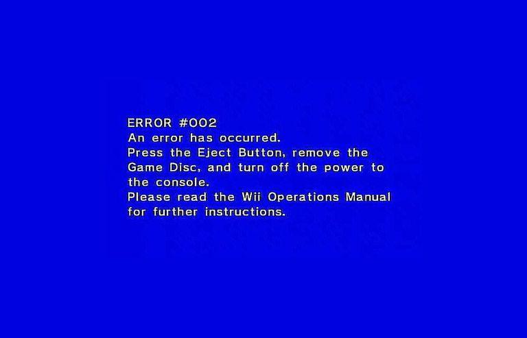 Error #002 Message
