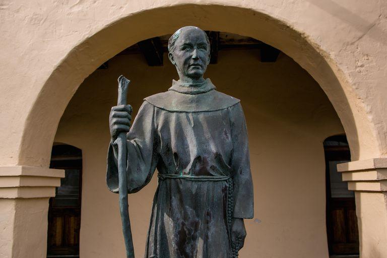 Sculpture of Fr. Junipero Serra, Mission Santa Ines