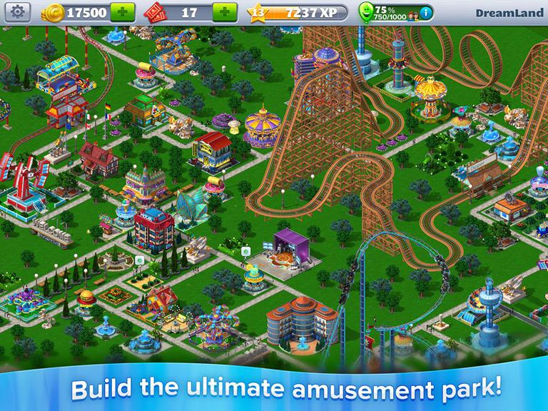 rollercoaster tycoon game screenshot