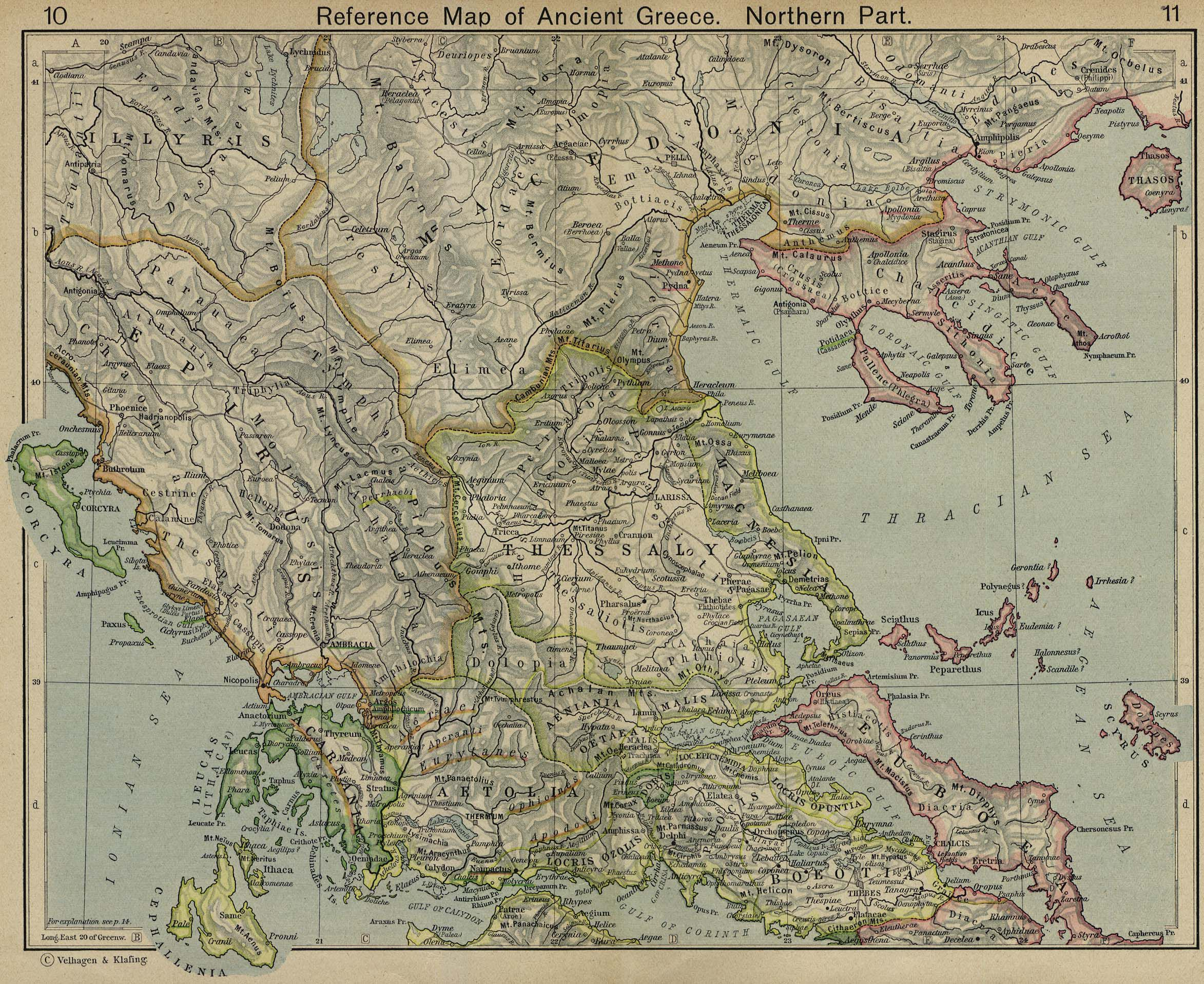 . a group of maps of the ancient superpower of greece