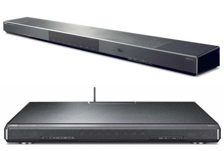 Yamaha YSP-1600 Sound Bar (top) and SRT-1500 TV Speaker Base (bottom)