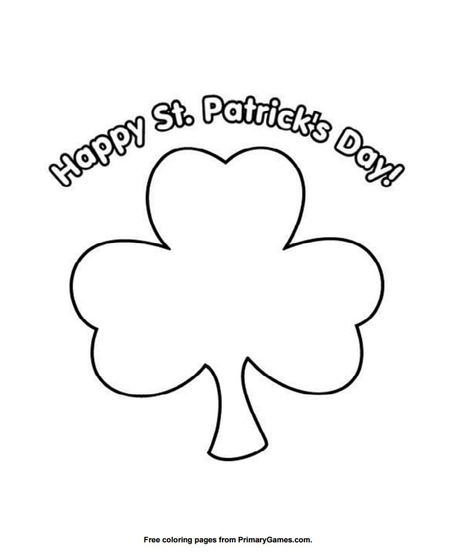 271 Free, Printable St. Patrick\'s Day Coloring Pages