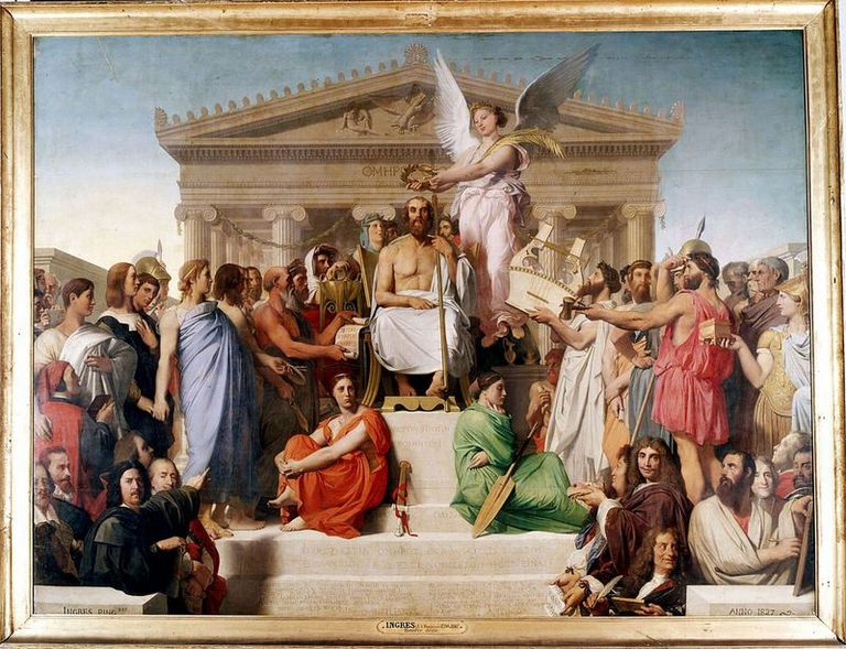 Apotheosis of Homer, by Jean Auguste Dominique Ingres