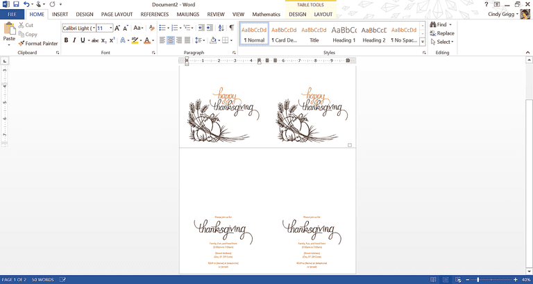 Best free thanksgiving templates for microsoft office thanksgiving invitation template pronofoot35fo Choice Image