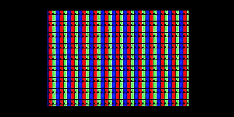 LCD TV Pixels - Showing RGB Subpixels