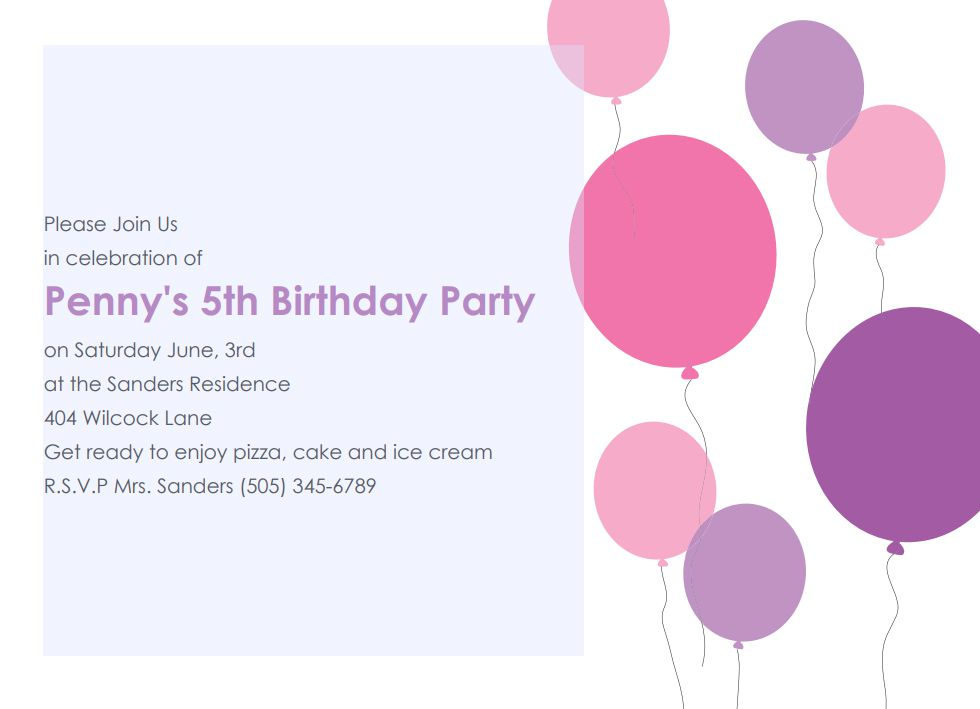 17 free printable birthday invitation templates solutioingenieria Choice Image
