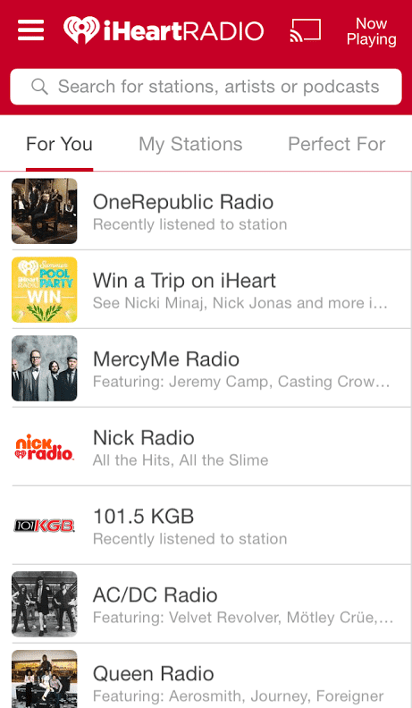 iHeartRadio App (iPhone)