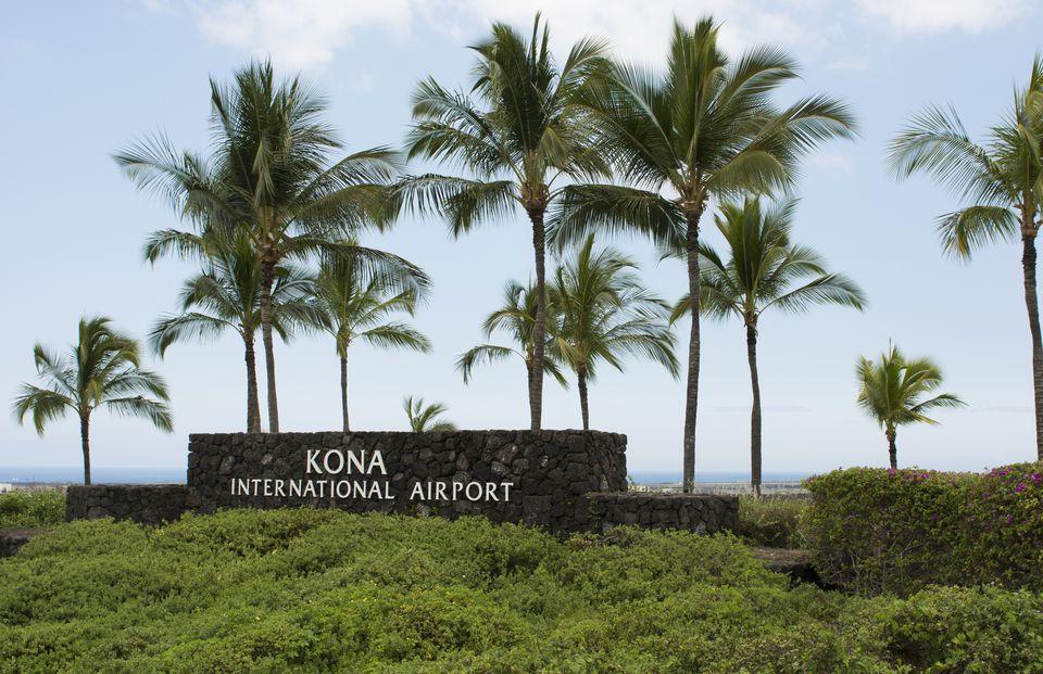 Exit of Kona International Airport
