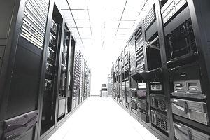 wall of computer servers
