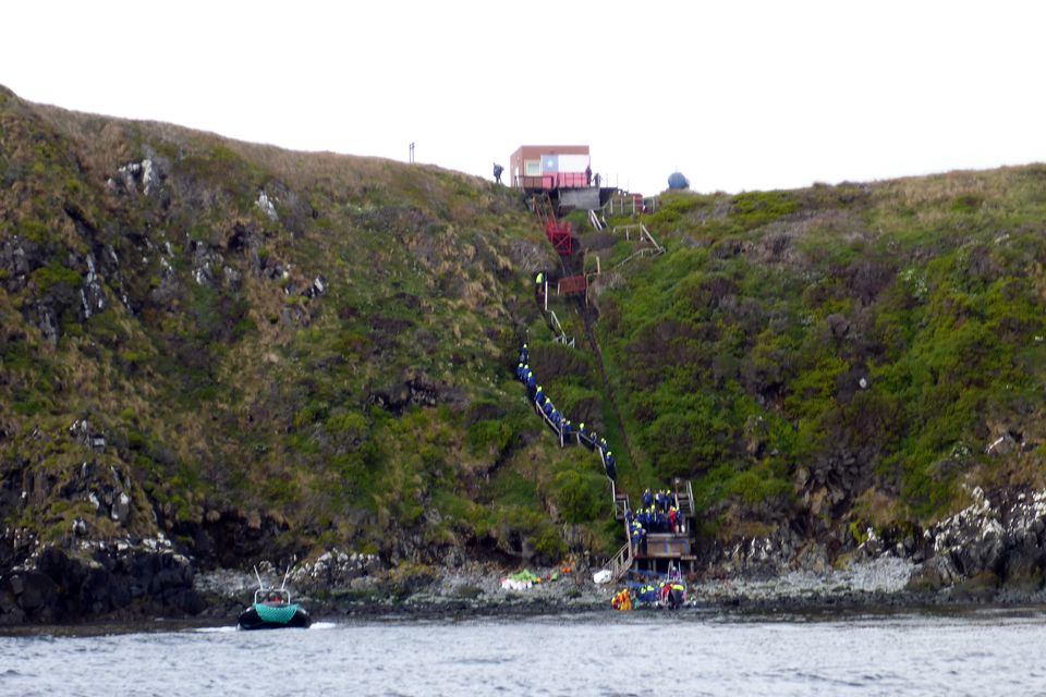 Scaling the cliff at Cape Horn