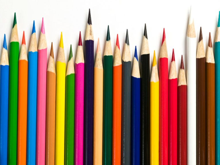 Colored pencils for drawing and sketching