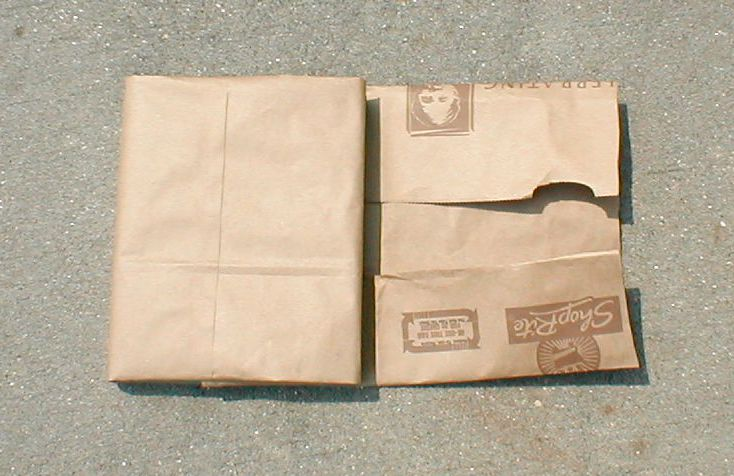 Book Cover Using Paper Bag : How to make a book cover with paper bag