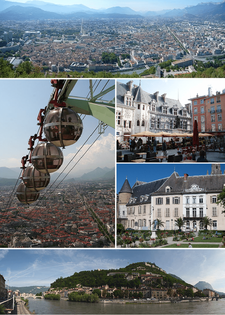 panorama of the city of Grenoble, France.