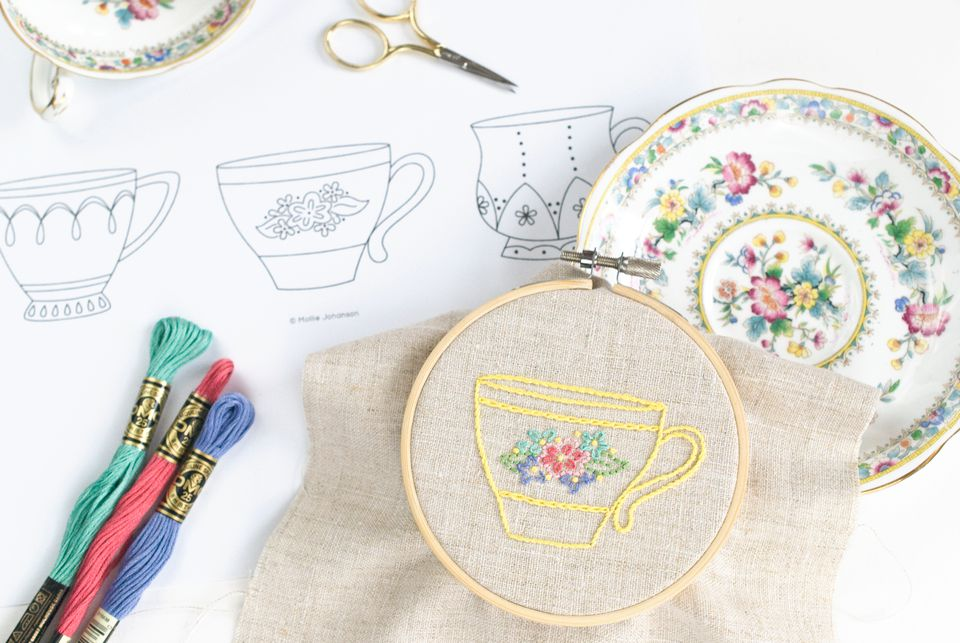 Teacup Embroidery Patterns