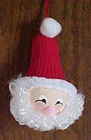 Light Bulb Santa Craft