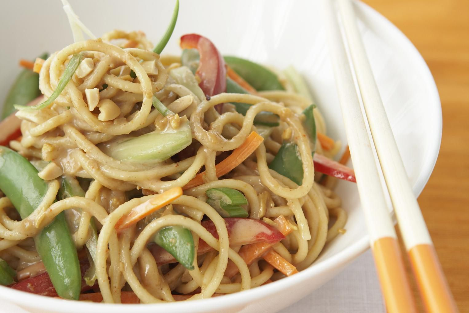 Chinese Noodles In Peanut Sauce Recipe With Sesame Paste-9792