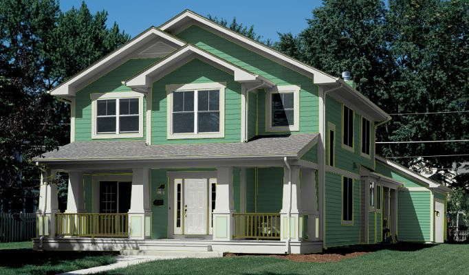 green paint ideas for house exterior - Green House Paint Colors
