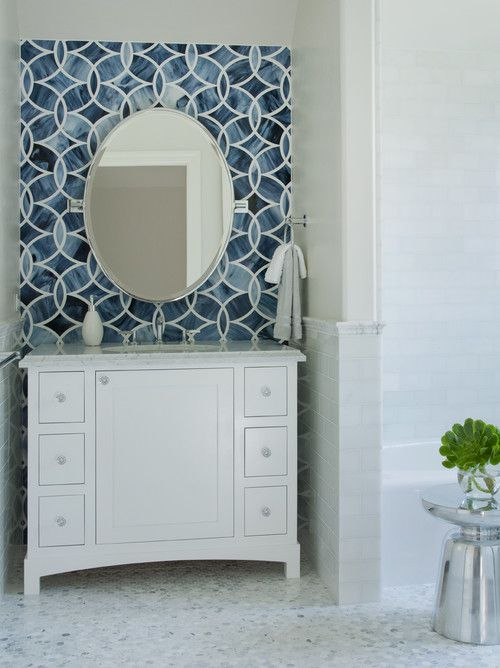 Beautiful Bathrooms With Dramatic Tile