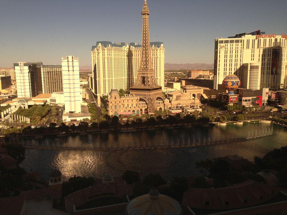 An aerial view of Las Vegas