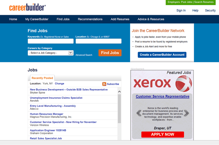Career builder jobs