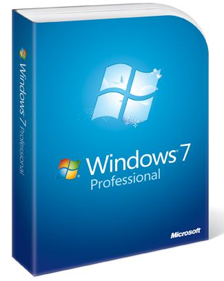 Screenshot of the Windows 7 Professional Box