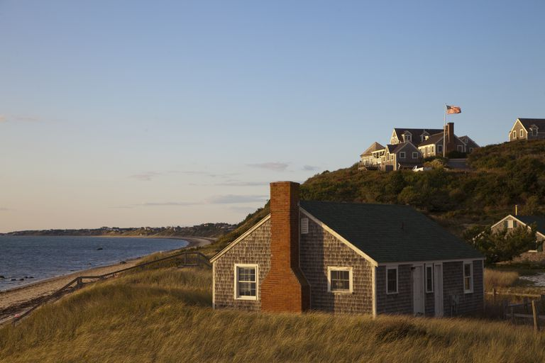 20th Century Cape Cod Adaptation on Cape Cod, Massachusetts (side chimney)