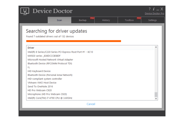 Screenshot of Device Doctor v5.0.162 in Windows 8