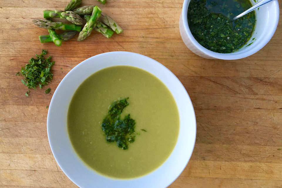 Asparagus Soup With Gremolata