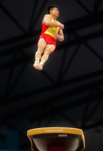 Gymnast Chen Yibing on Vault