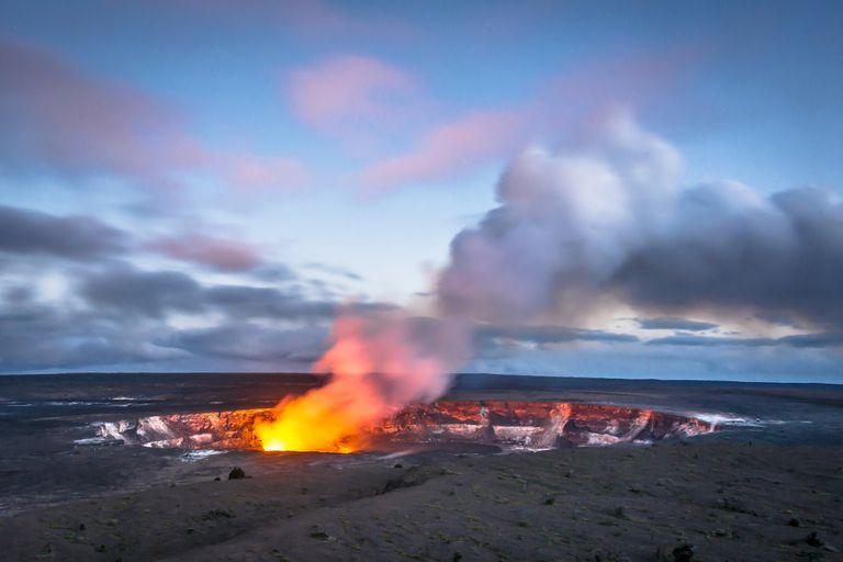 Hawaii's Kilauea Caldera at Twilight