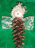 Cristy's Pine Cone Angel Craft
