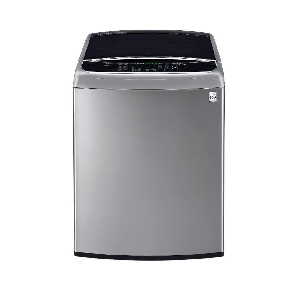 LG Electronics 4.9 cu. ft. High-Efficiency Top Load Washer with TurboWash in Graphite Steel, ENERGY STAR