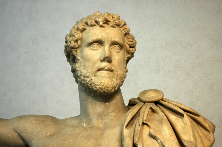 Detail From A Statue Of The Roman Emperor Antoninus Pius