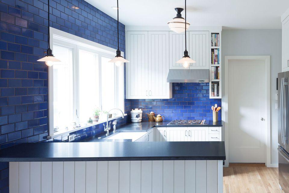 Beautiful blue kitchen design ideas for Blue kitchen designs