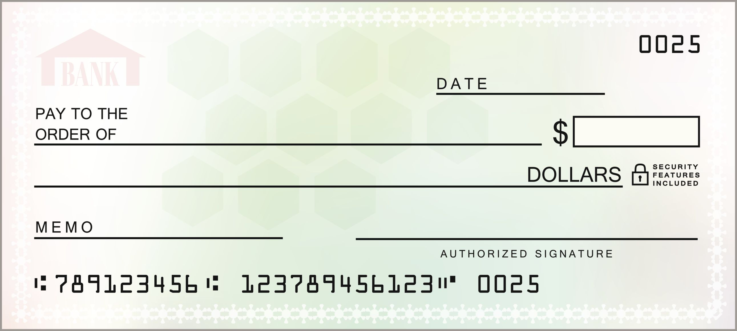This is a picture of Versatile Printable Personal Checks