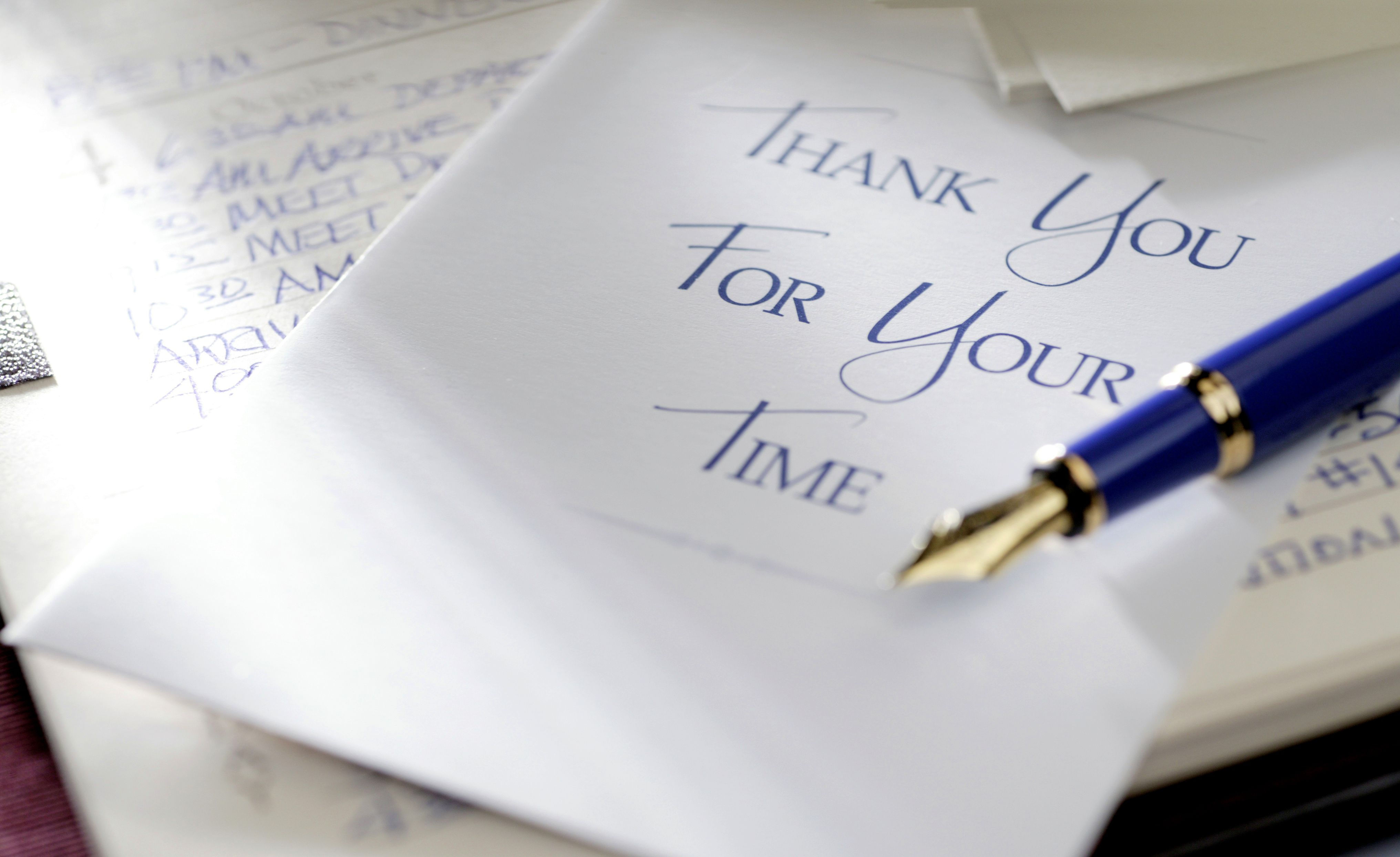 Thank you letter writing guidelines Thank you in calligraphy writing