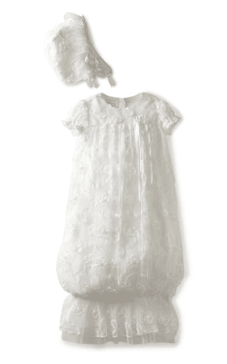 biscotti baby girls cherished heirloom embroidered gown with bonnet