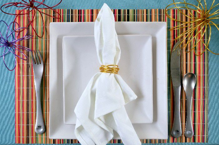 DIY Wire Napkin Rings