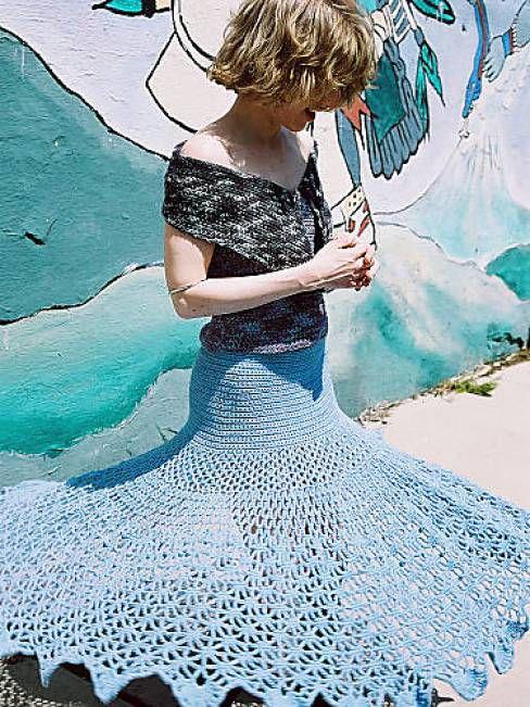 Spiderweb Crochet Skirt Free Pattern