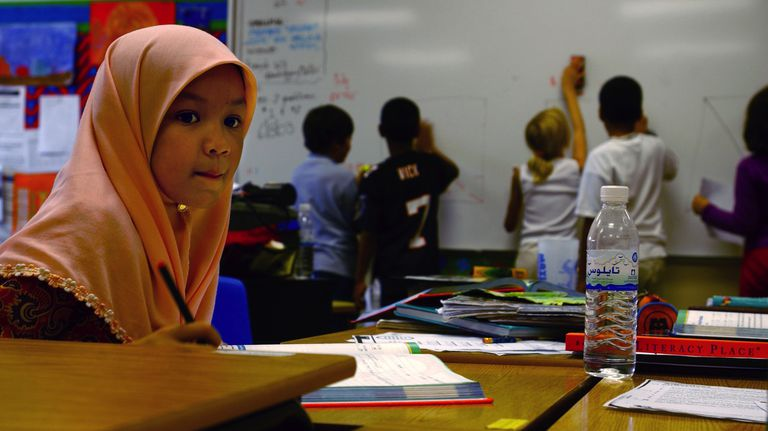 In Bahrain, Arabic is largely used in educational settings.