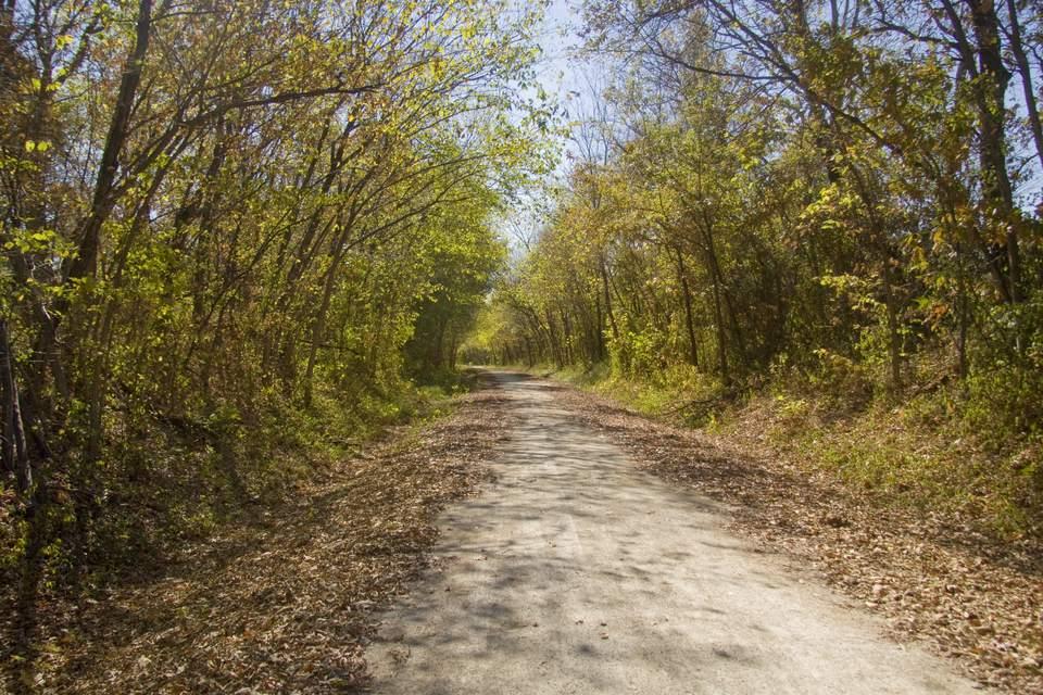 Katy trail in October. Windsor, Missouri