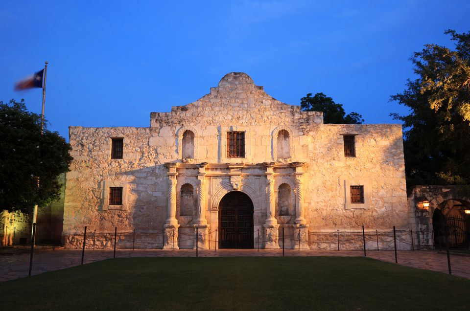 The 1718 Alamo Mission in San Antonio, Texas