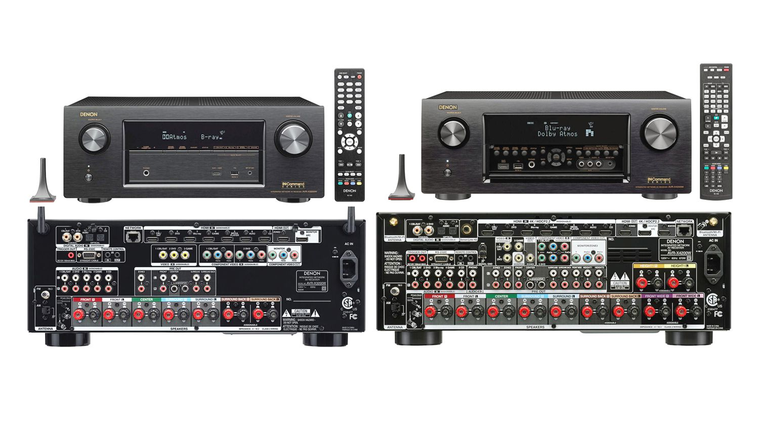 comparing denon 39 s avr x3200 and 4200w home theater receivers. Black Bedroom Furniture Sets. Home Design Ideas