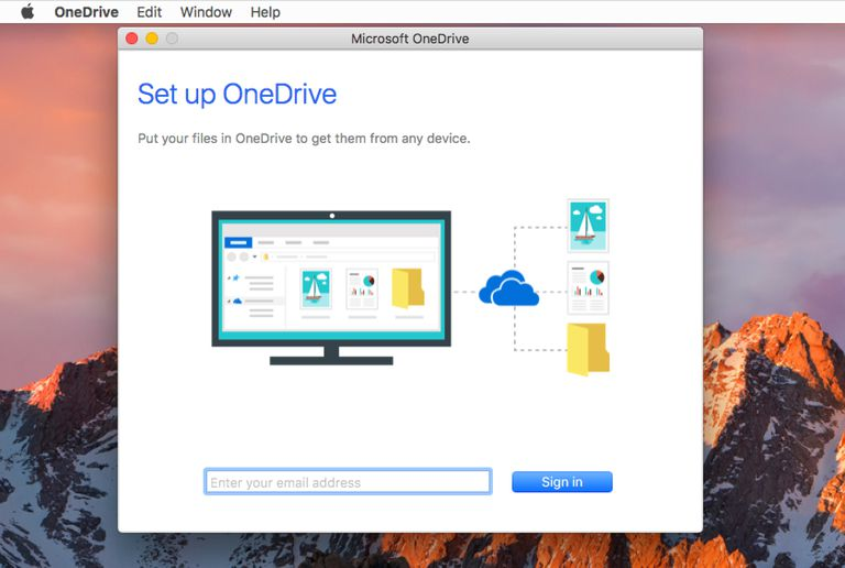 OneDrive setup for Mac OS