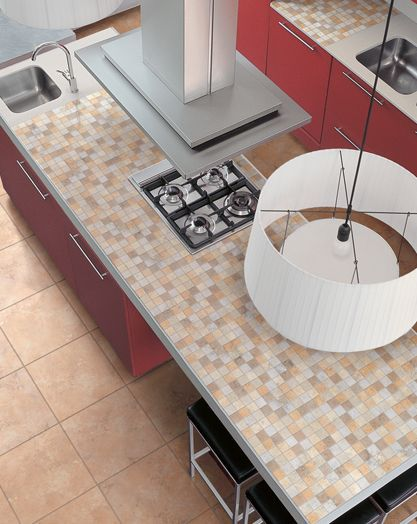 Mosaic Tile on Kitchen Island