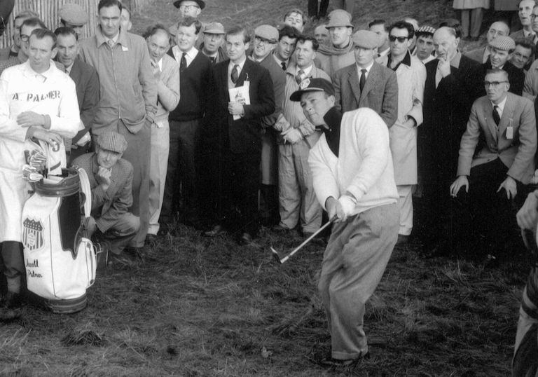 American Ryder Cup golfer Arnold Palmer in play at Royal Lytham during the 1961 Ryder Cup