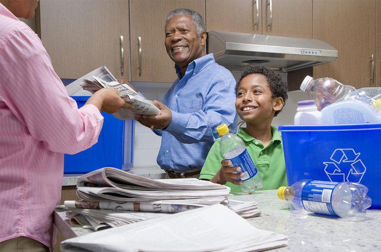 Recycling Bins, Newspaper, Plastic, Going Green