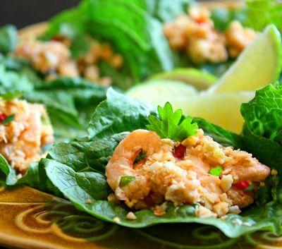 Mini Shrimp Lettuce Wraps