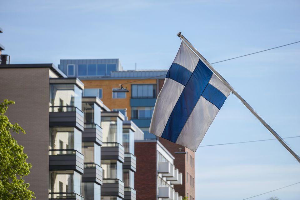 The Flag of Finland in Finland